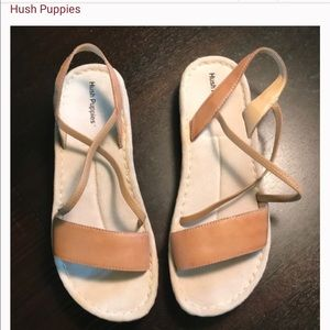 NEW leather Hush Puppy sandals